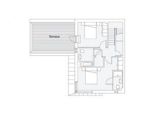 3 bed courrtyard house 1st floor